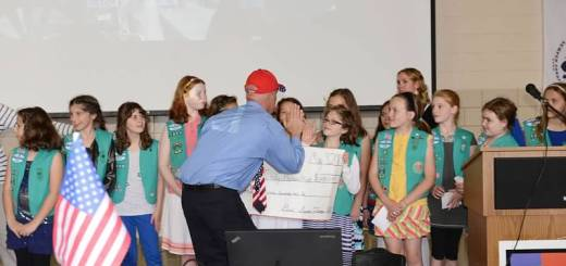 Girl Scout Troop 1880 received a standing ovation during the Indy Honor Flight reception last week.