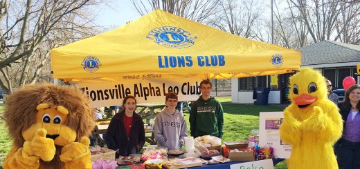 Alpha Leos hosted a bake sale in April to raise money for measles prevention. (Submitted photo)