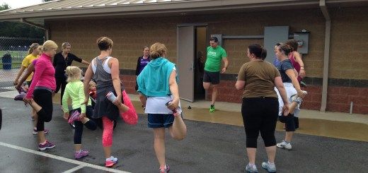 Moms In Training participants start their morning workout in Carmel. The MIT ladies will be in the Hit the Bricks 5K Oct. 4. (Submitted photo)