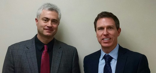 Zionsville Town Council President Jeff Papa with Paul Rothwell, SmartIT COO.(Submitted photo)