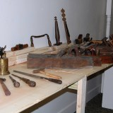Some of the tools on display now at the SullivanMunce. (Photo by Heather Lusk)