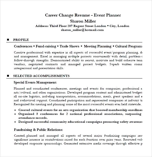 Resume Examples Career Change \u2013 resume