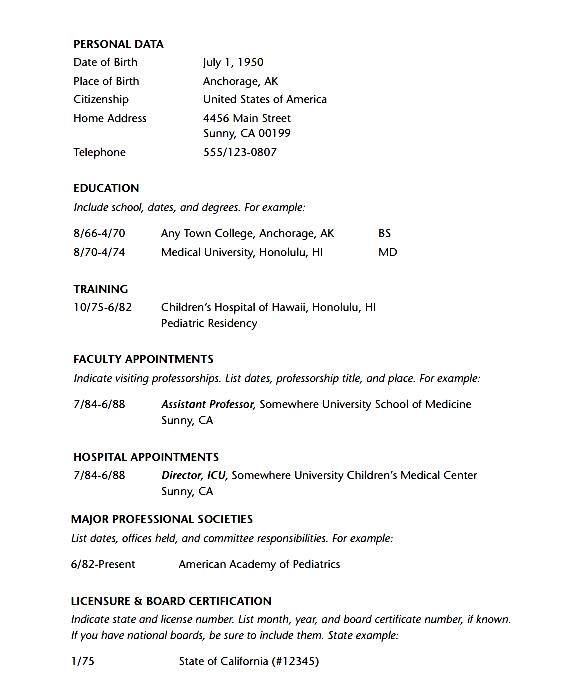 English 302 - Business Writing - Department of English doctor resume