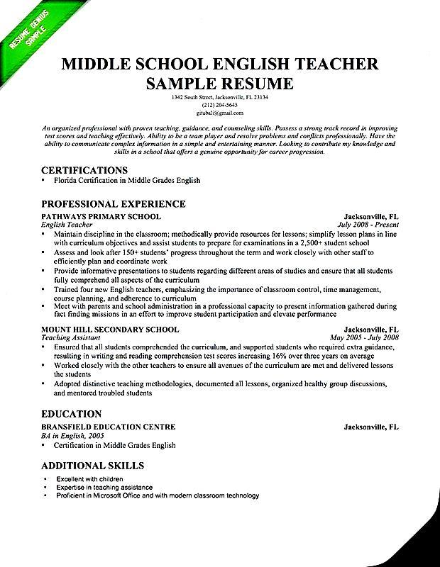 Esl Teacher Resume Examples resume samples this site were created