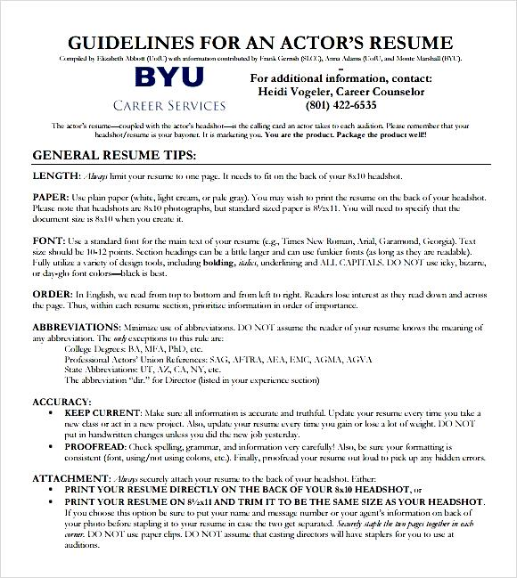 Top Result 60 Beautiful Actors Cv Template Free Photography 2017