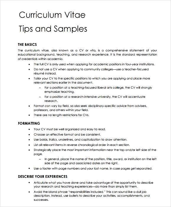 Curriculum Vitae Wikipedia General Teaching Cv Template Free Samples Examples