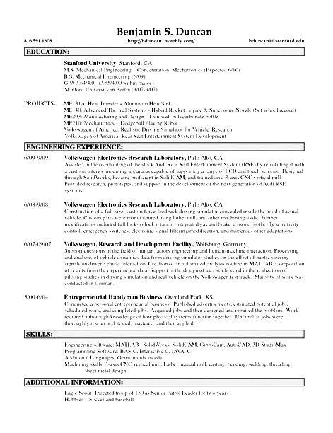 Free sample handyman resume