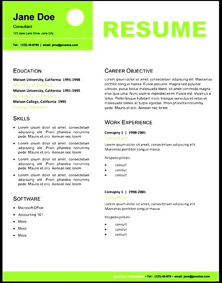Professional Resume Layout - Free Samples , Examples  Format Resume - resume lay out