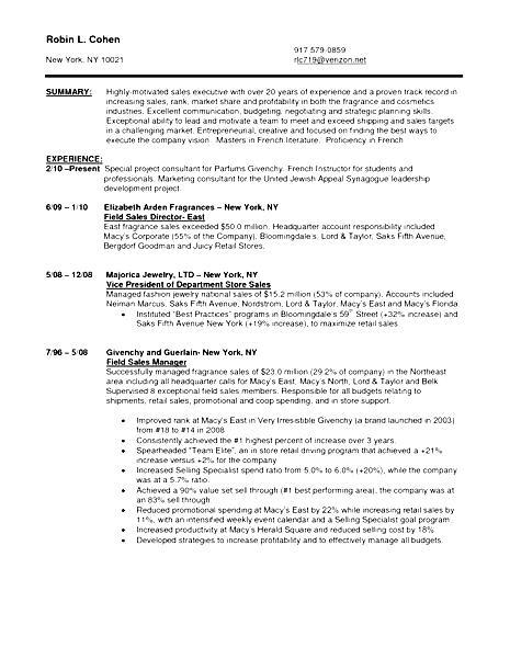 Sales Associate Resume Sample - Free Samples , Examples \ Format - sales associate resume objective