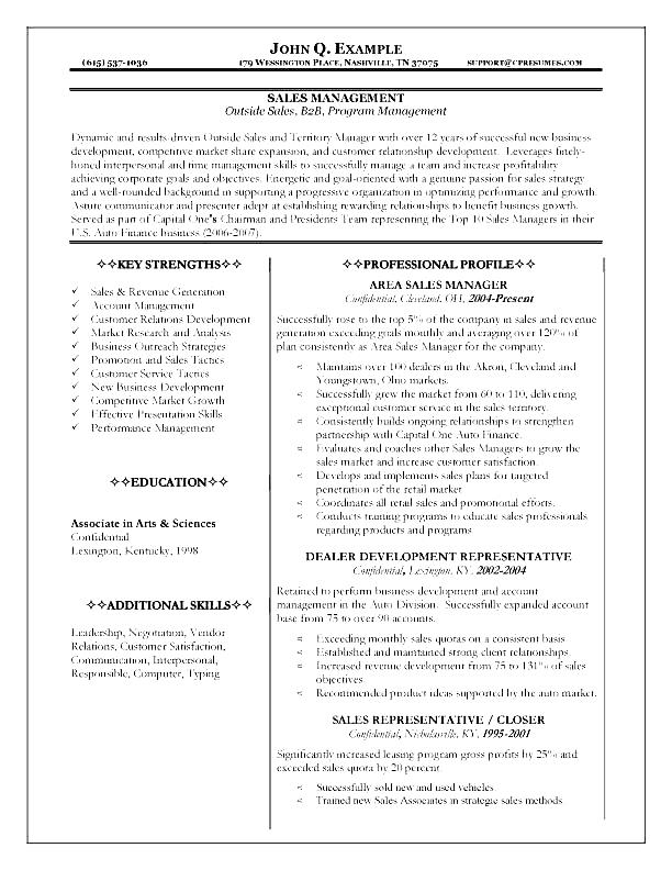 Sales Manager Resume Examples example branch sales manager resume