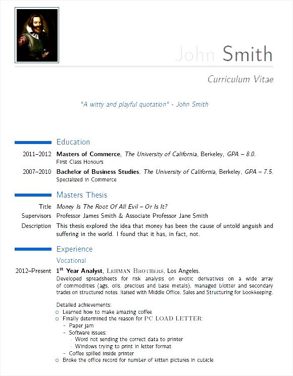 pdf cv moderne