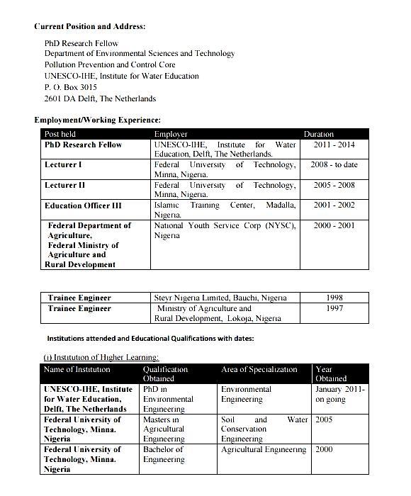 resume example for graduates