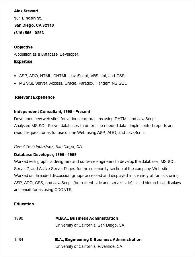 Vb Developer Resume - Professional Resume Templates \u2022 - vb programmer sample resume