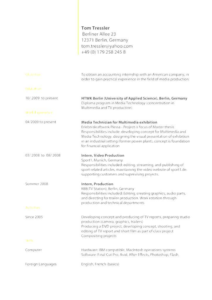 standard cv template