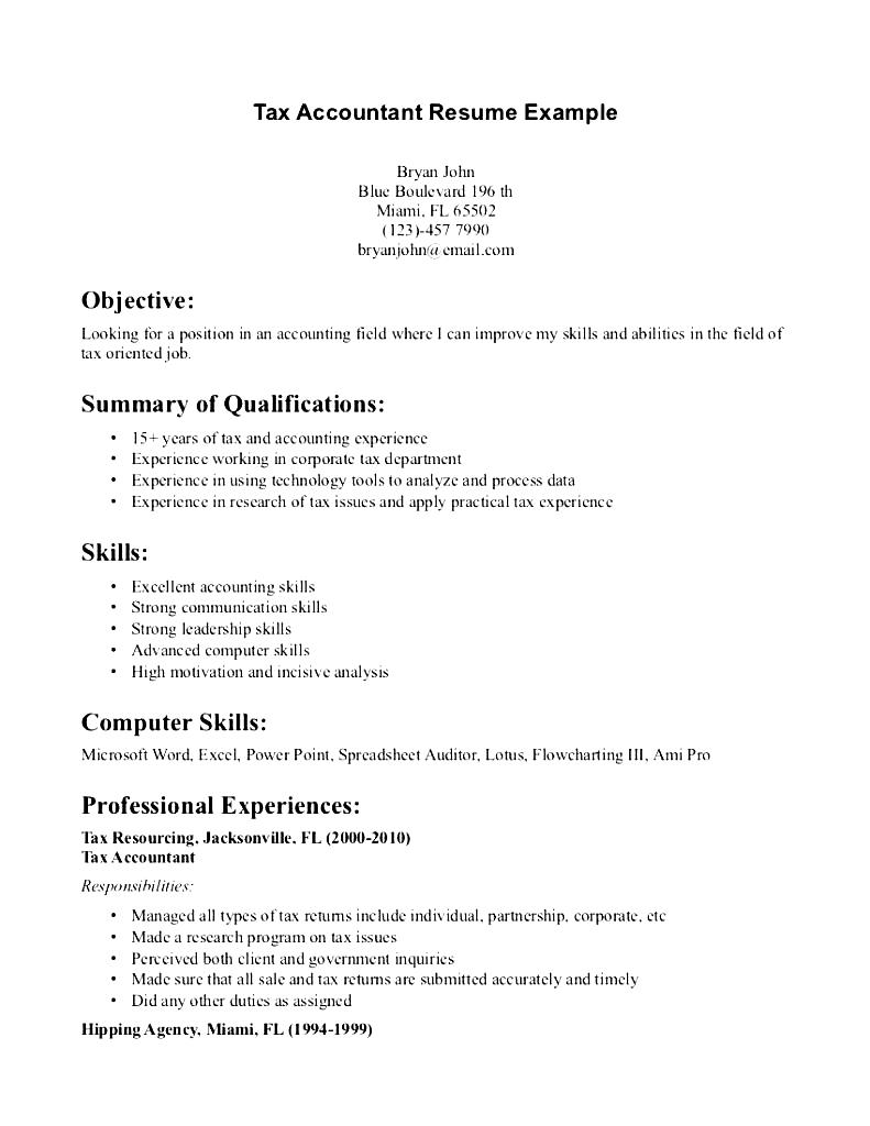 Effective Internship Resume Samples To Give Your Career A Tax Accountant Resume Example Free Samples Examples