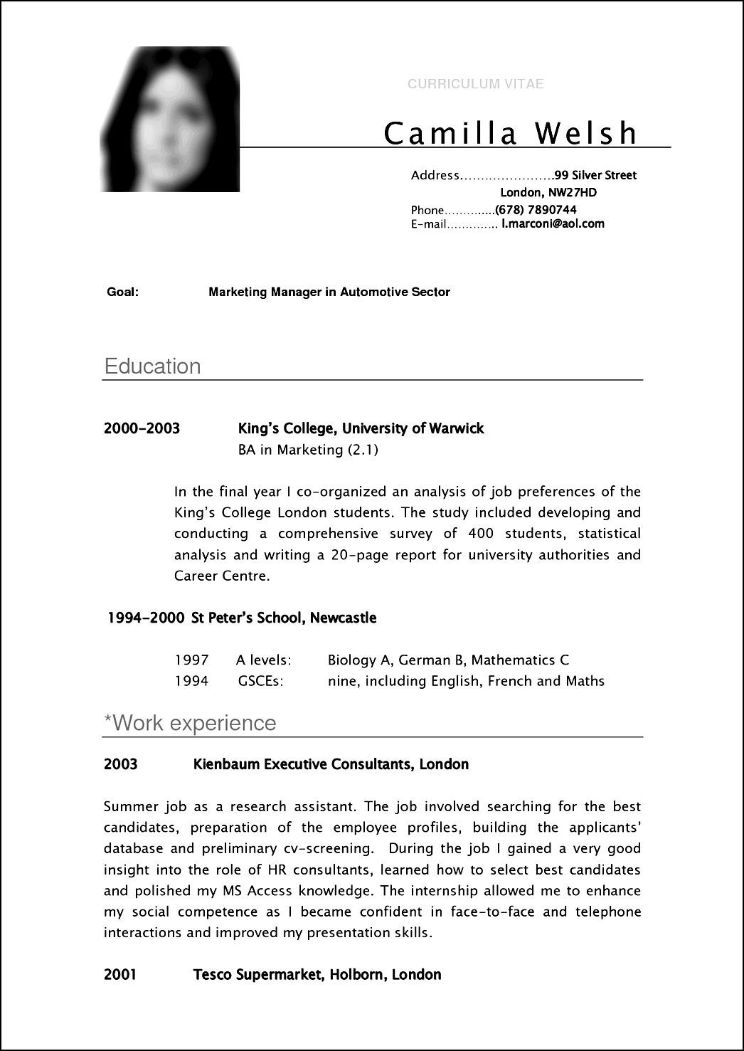 standard cv format in resume writing resume examples standard cv format in resume format in tips and advice moving2 to write a