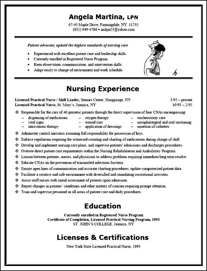 Free resume guide for registered nurses