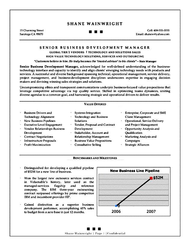 business development resume objective - 28 images - best business - business development executive resume