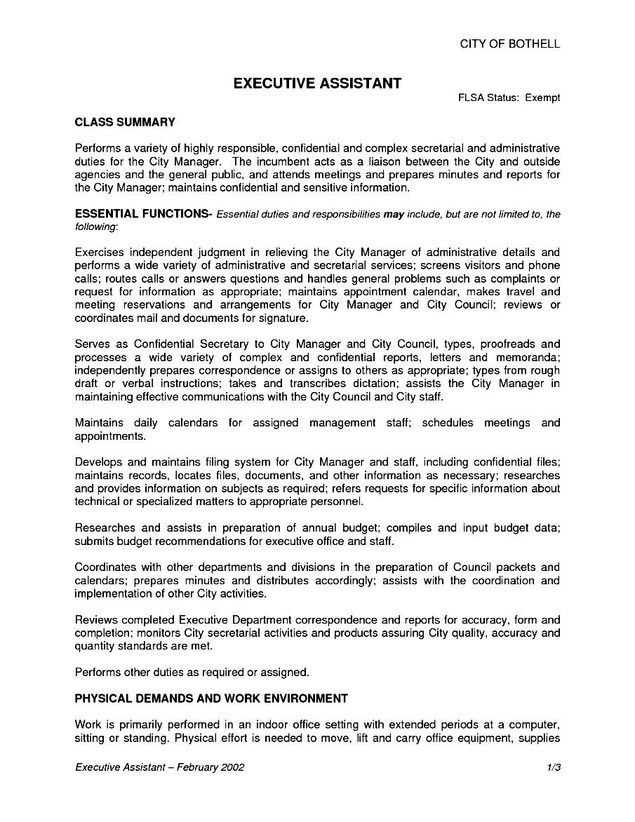 job description for pto resume examples