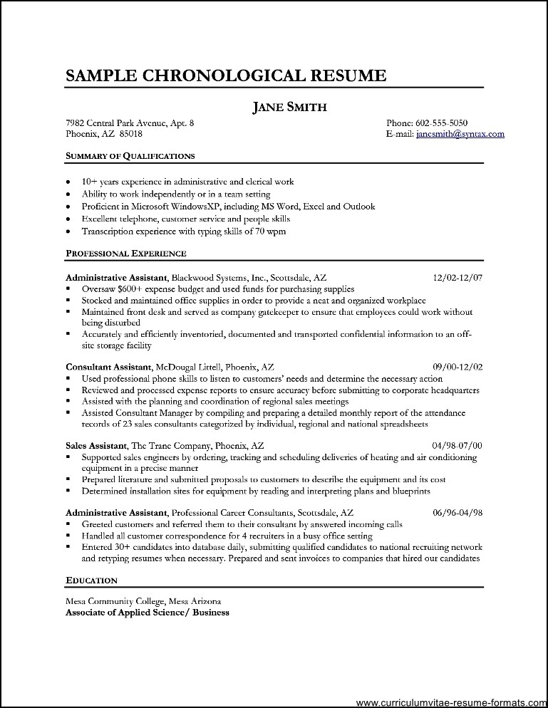 different types of resumes samples - Intoanysearch - 4 types of resumes