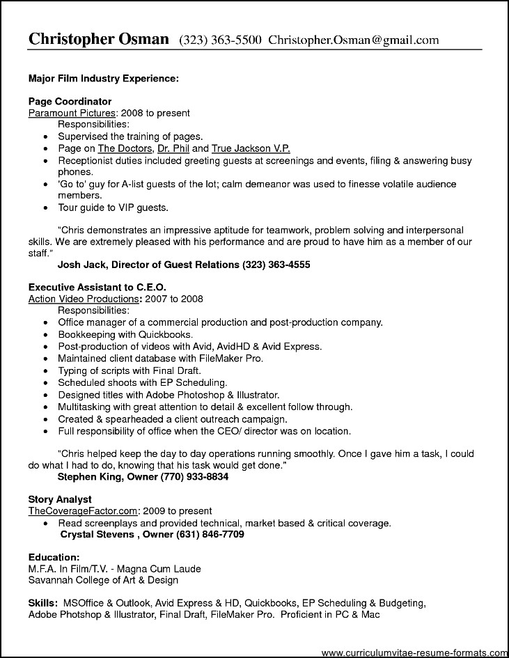 best open office template for returning to workforce resume