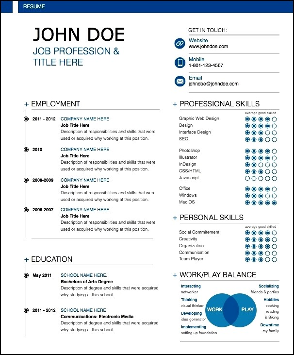 Resume Template 781 Free Samples Examples Format Modern Resume Sample Free Samples Examples And Format