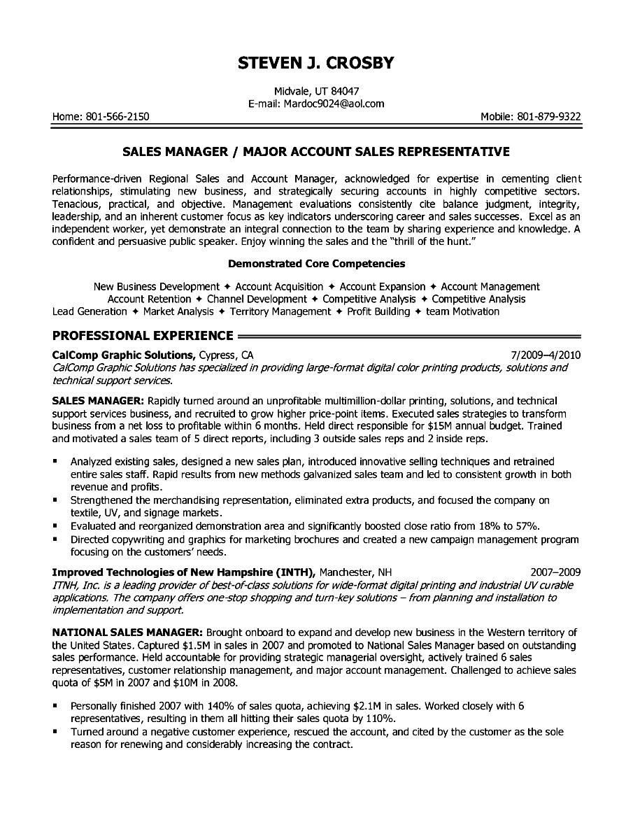resume objectives examples executive