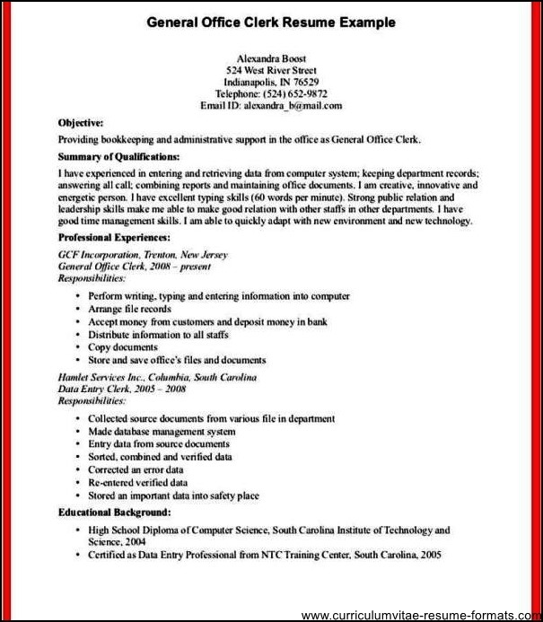 office clerk resume sample fabulous resume office clerk objective