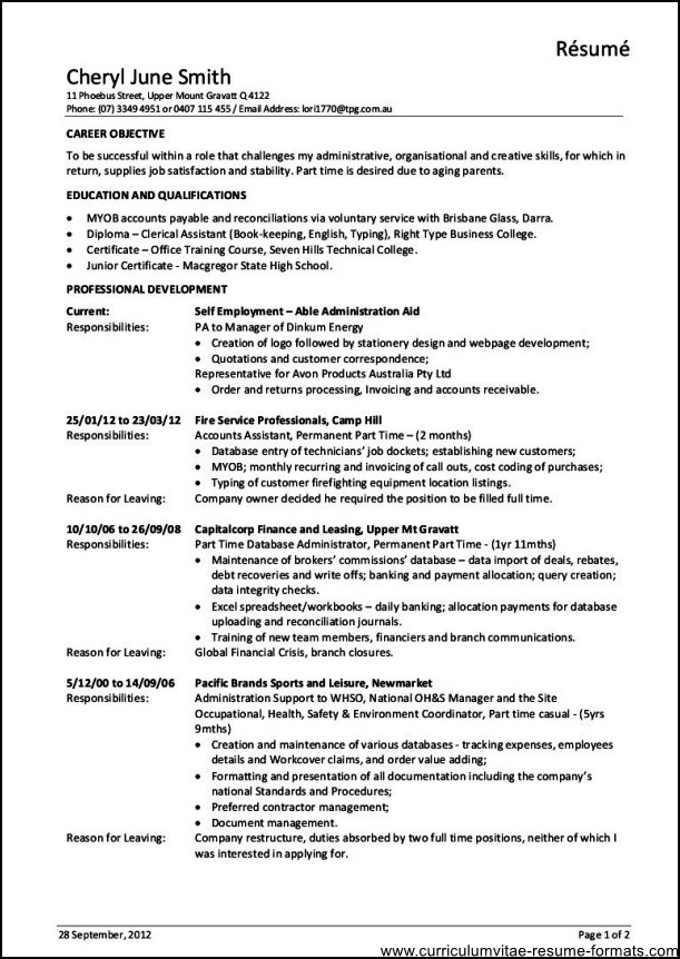 job description resume - Goalgoodwinmetals