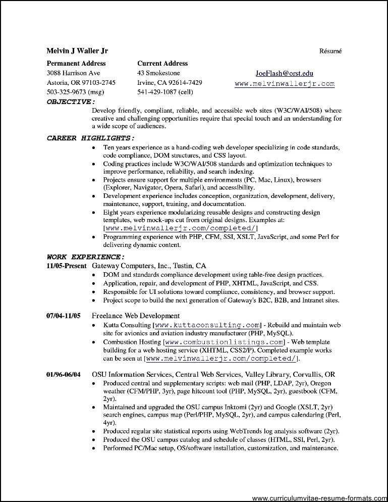 resume templates open office - Resume Templates Open Office Free
