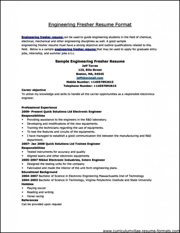 Sample Resume Download In Word Format Bpo Resume Template Free - Free Download Of Resume Format