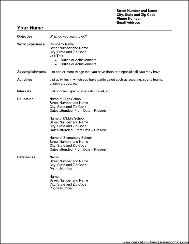 free downloadable resume format - Demireagdiffusion