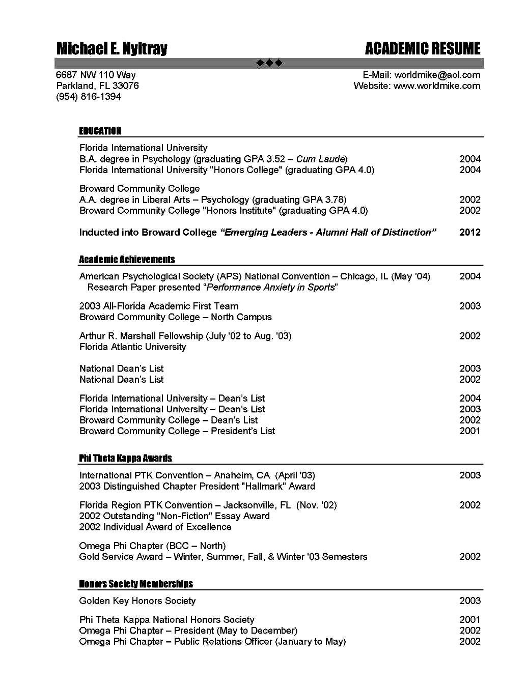 Teacher Resume Examples Teaching Education Resume For Academic Position Free Samples Examples
