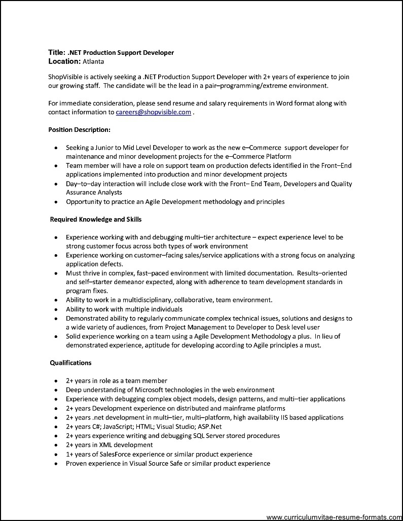 sample resume format for experienced it professionals sample sample resume format for experienced it professionals sample