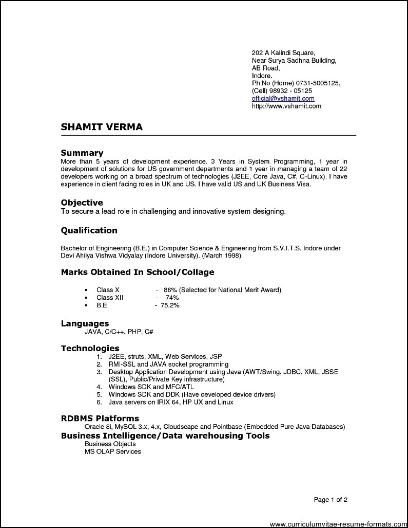 7 best resume format for experienced professionals