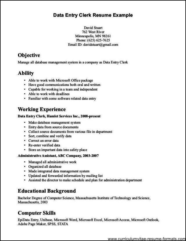 resume objectives for clerical - Tomadaretodonate