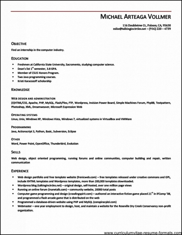 open office mac resume template