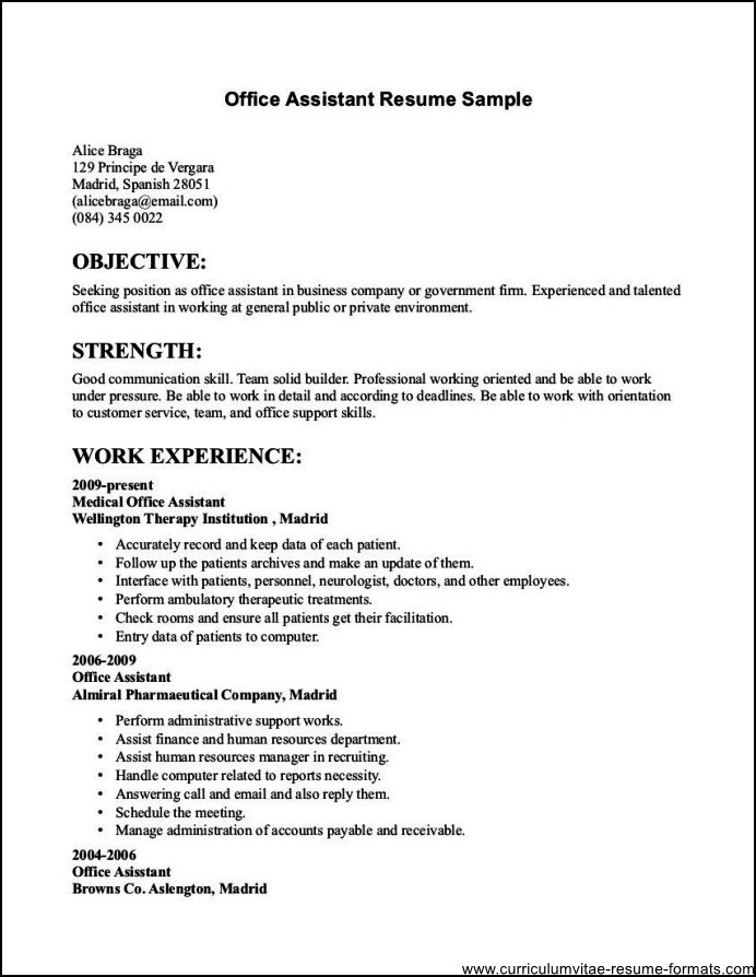 resumes for office work - Funfpandroid