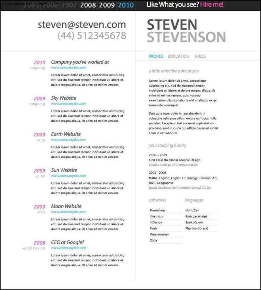best cv templates free download word document