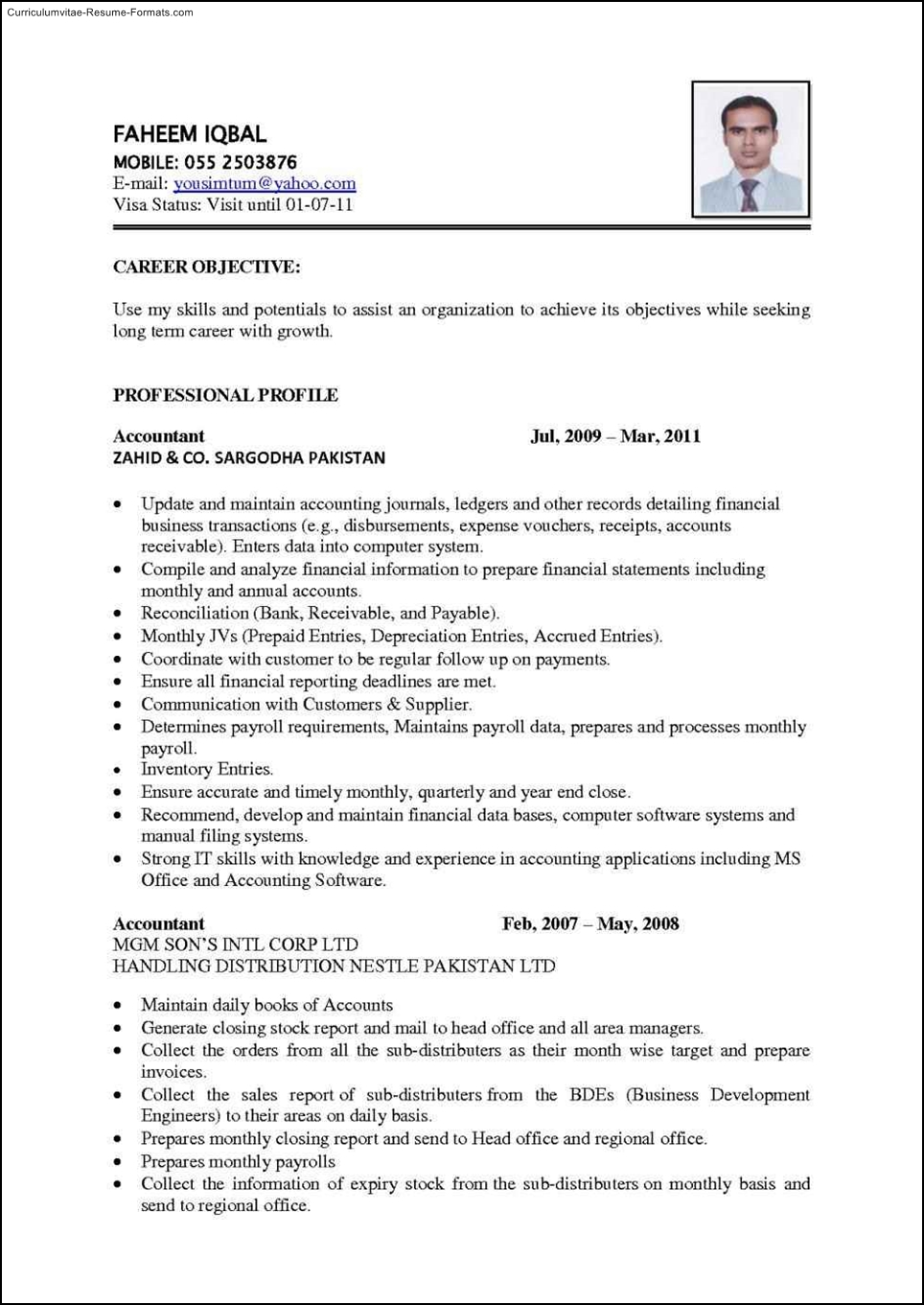 word office cv
