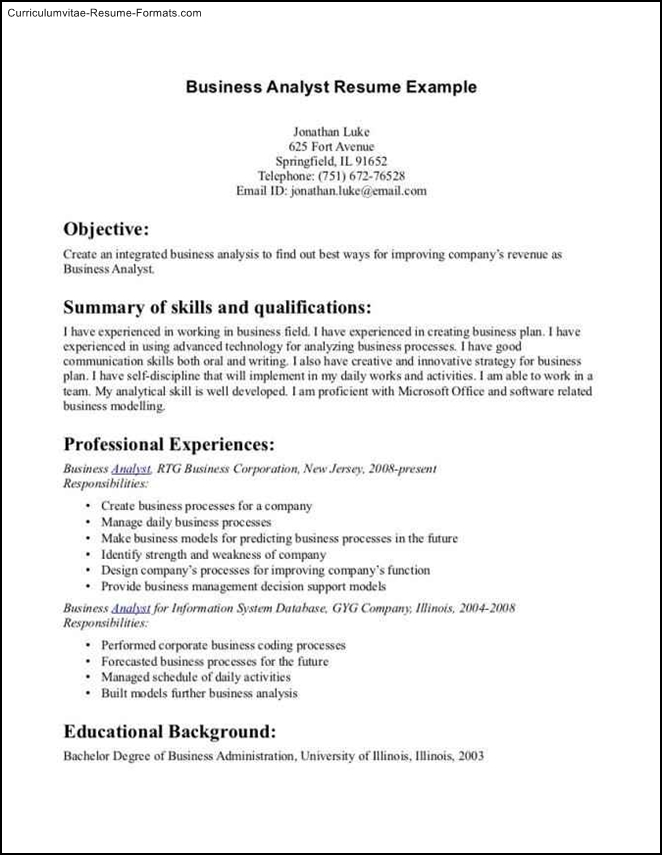 Examples Of Business Resumes Professional Resume Sample - Http - benefits administrator resume