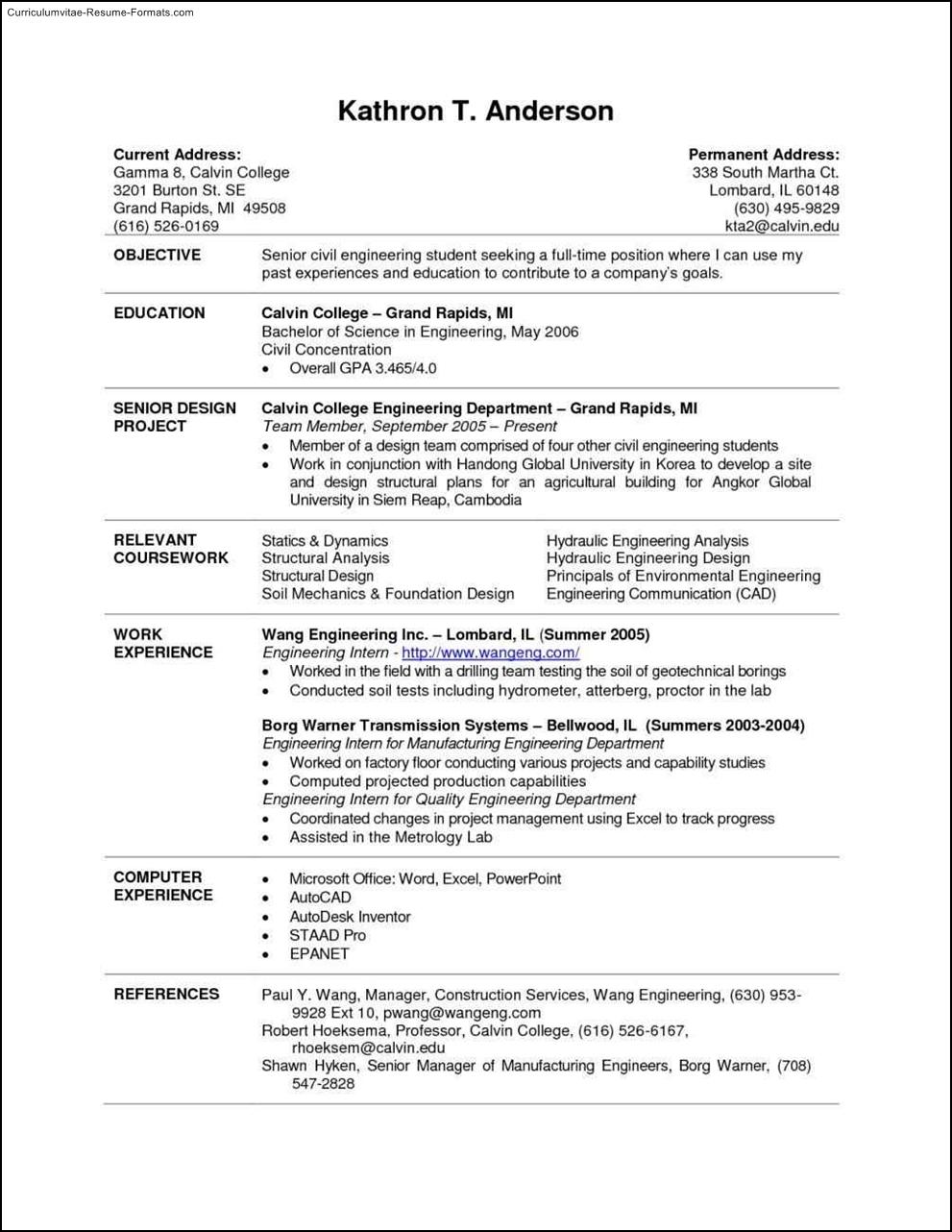 resume examples college student reddit