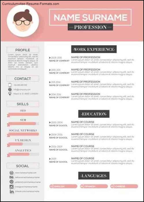 Free Modern Resume Templates Download - Free Samples , Examples - modern resume formats