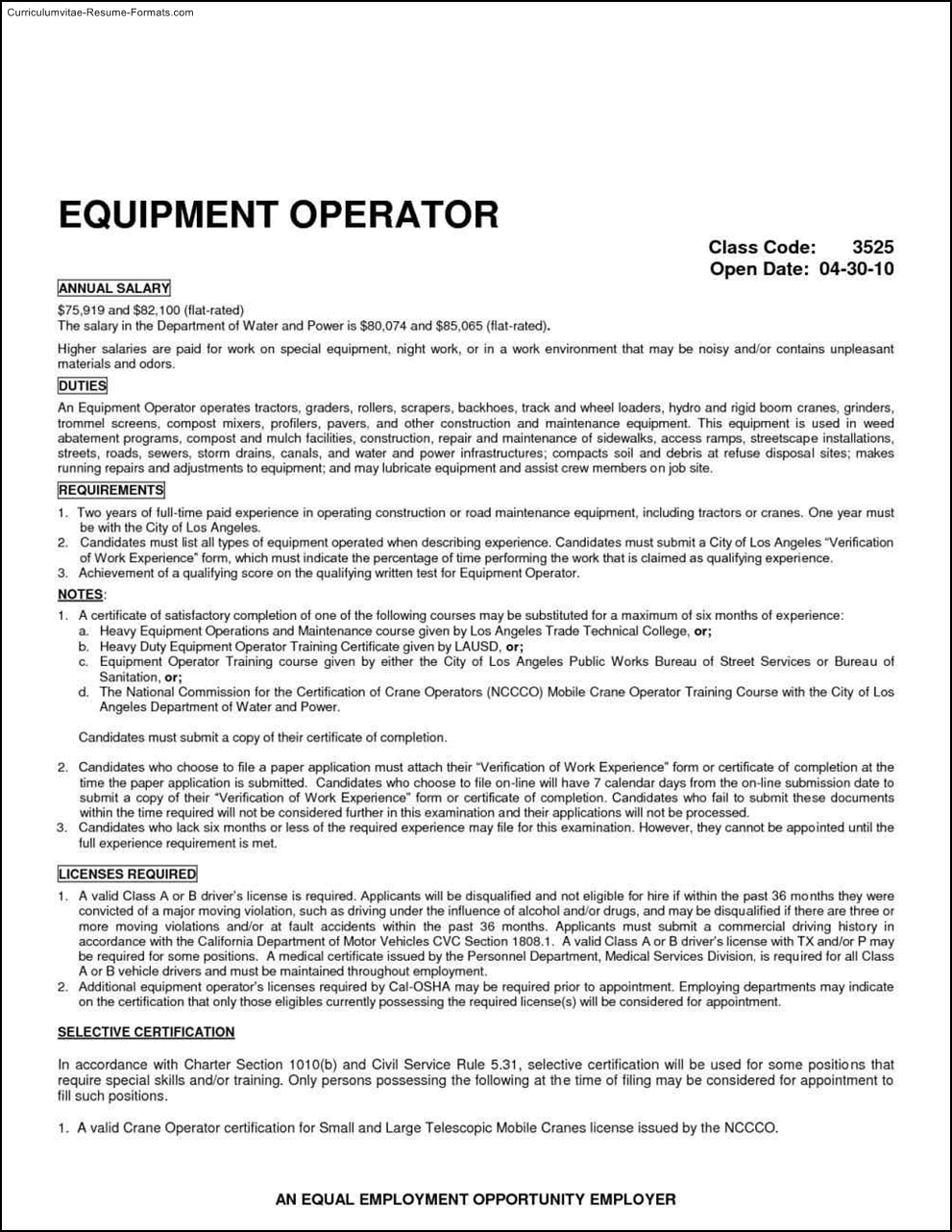 Exceptional Crane Operator Resume Sample Create Your Own Birthday Invitations Heavy  Equipment Operator Resume Template Crane Operator