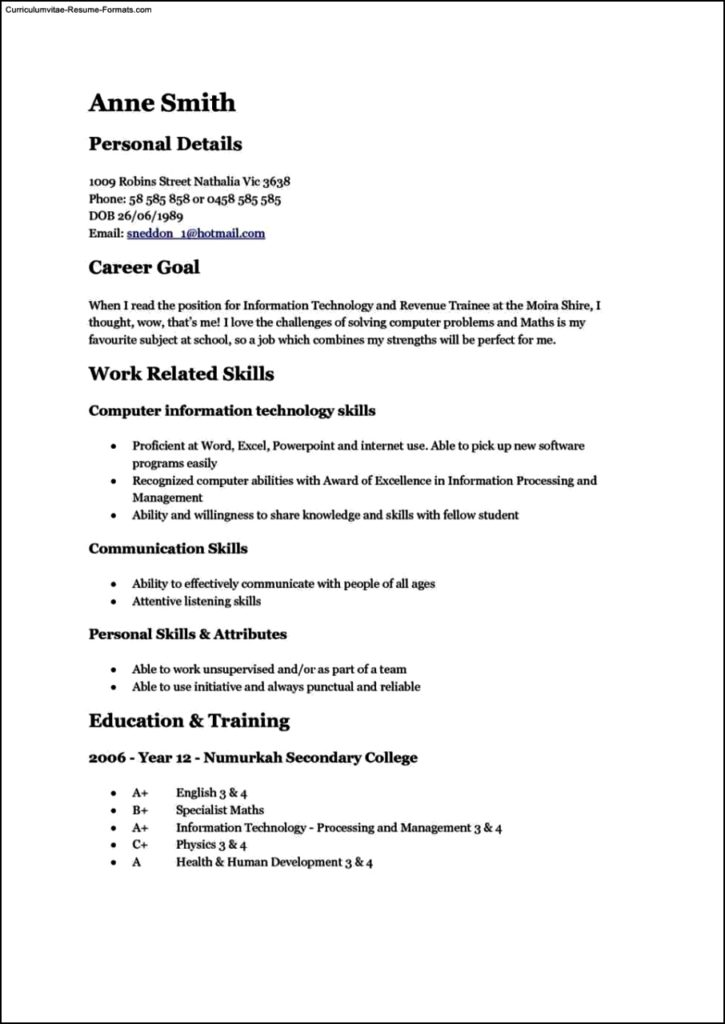 Lovely Teen Resume Template Resume Examples for Teens