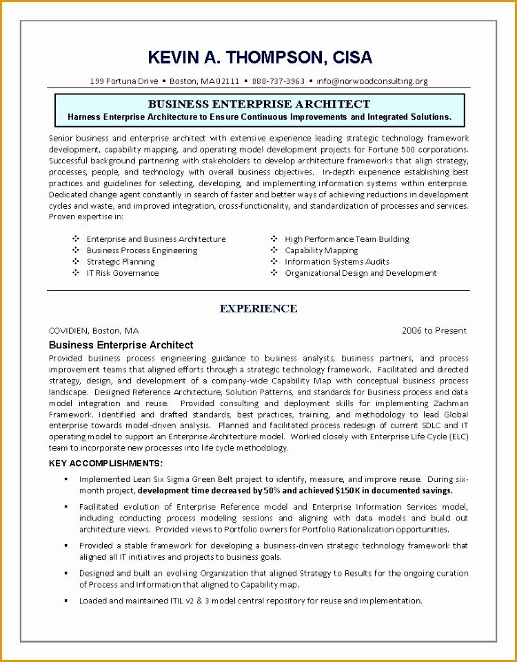 system architect resume download it enterprise architect resume