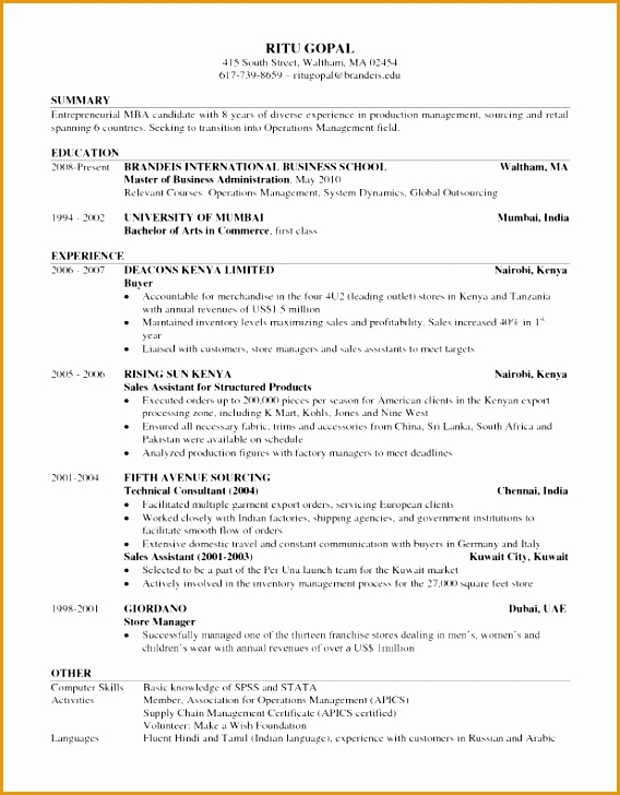 perfect cv template south africa
