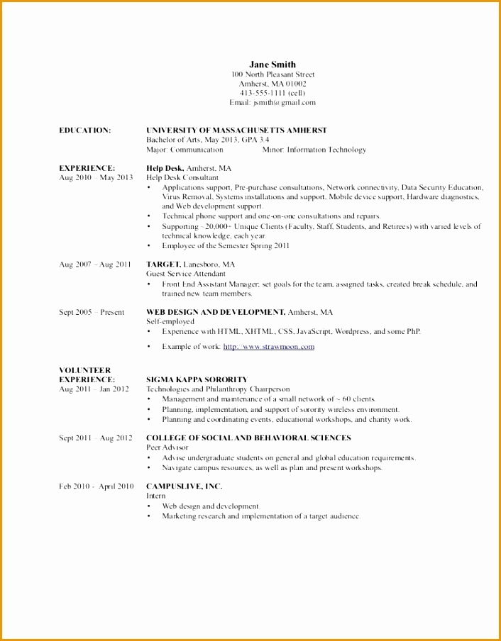 Awesome Information Technology Resume Template 2 Sample Resume for