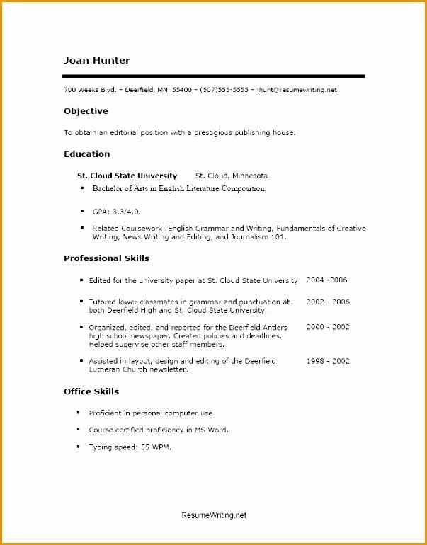 sample resume college no job experienceresume