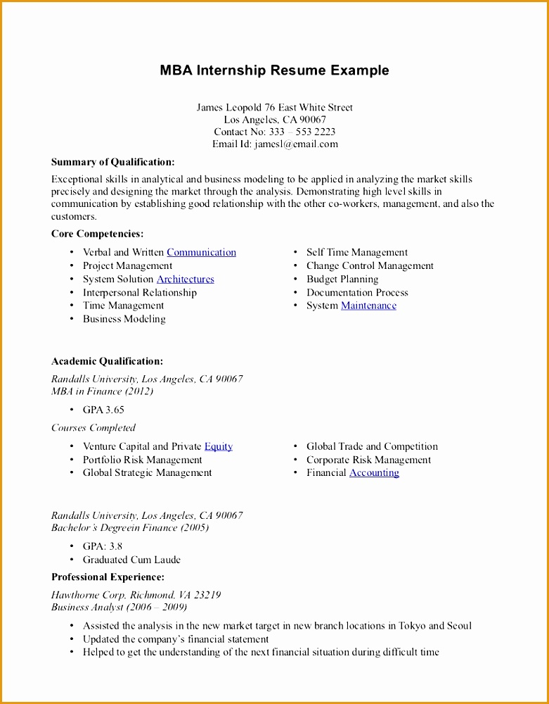 Cv Format For Internship In Bank  BesikEightyCo